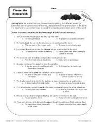 homograph worksheets what are homographs homographs language