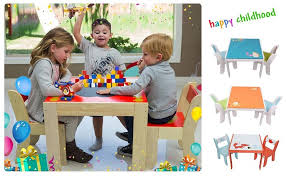amazon com labebe children wooden furniture activity table and
