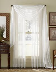 Scarf Curtains White Sheer Voile Curtain Scarf Moshells