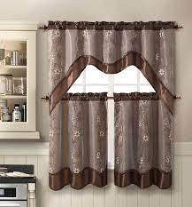 ivy kitchen curtains amazon com daphne embroidered kitchen curtain set by victoria