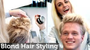 men u0027s blond hair inspiration medium short length messy look