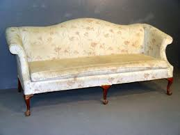 chippendale style humpback sofa uph discolored