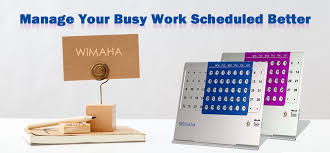 Desk Calendar With Stand Amazon Com Unlimited Metal Desk Calendar Wimaha 2 Pack Lifetime