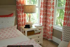 drapes curtain coral colored curtains panels setvy blue floral