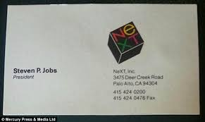 I Need Business Cards Today Rare Steve Jobs Business Cards From Apple Next And Pixar Sell At