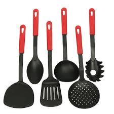 black nylon spatula set high temperature kitchen cooking tools set
