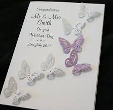 congrats on wedding card large handmade personalised butterflies congratulations wedding