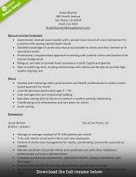 Social Work Resume Template 10 Social Worker Resume Sample Science Work 2015