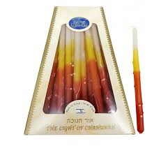 hanukkah candles colors handmade safed dripless hanukkah candles bright colors