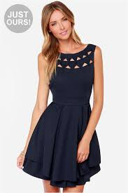 cut out dresses navy blue dress backless dress cutout dress 55 00