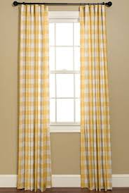 yellow and white buffalo check curtains 2 by bellashomedecor