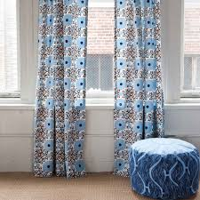 decor riya red and blue duralee fabrics for home decoration ideas blue patterned curtains by duralee fabrics plus chic ottoman for home decoration ideas