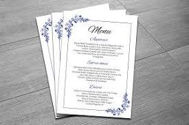 Wedding Menu Template Printable Wedding Menu Template Stationery Templates Creative