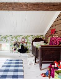 modern design and folk details in fine mix in swedish home