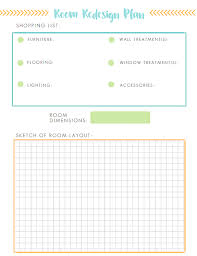 room dimensions planner printable room redesign plan the idea room