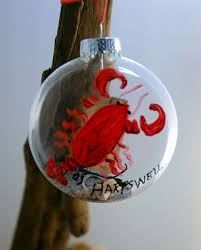 painted lobster ornament made in maine