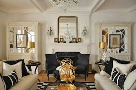 Black And Gold Living Room Furniture Mirrored Armoire Living Room Megan Winters