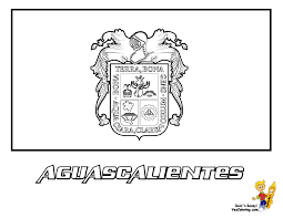 marvelous flag print out for mexico states aguascalientes