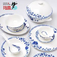 dinnerware sets blue and white porcelain tableware set margin of