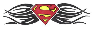 superman tattoos to draw for beginners great drawing