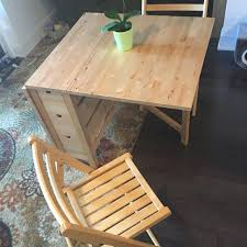 ikea norden table for sale find more ikea norden gateleg table and two chairs birch for sale