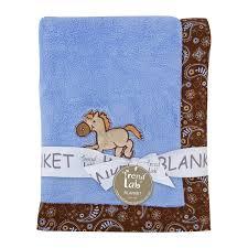 Cowboy Nursery Decor by Amazon Com Trend Lab Cowboy Baby Framed Receiving Blanket Blue