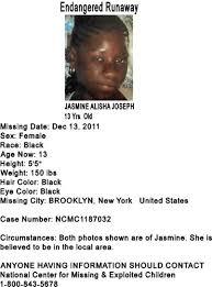 Exploited Black Teen Jasmine - amber alert 2010