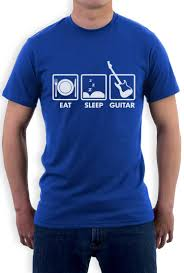 eat sleep guitar guitar player rockstar cool funny t shirt gift