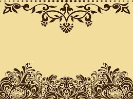 brown ornaments powerpoint templates border frames free ppt