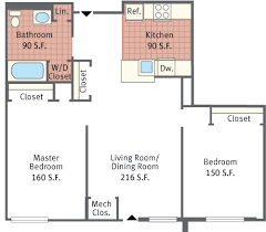 Two Bedroom Floor Plan Floor Plans For Paseo Verde South Apartments Located In