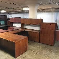 Used U Shaped Desk New Used U Shaped Desks For Any Budget