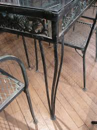 Metal Garden Chairs And Table Vintage 1950s Wrought Iron Garden Set With Two Tables And Eight