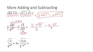 worksheet adding and subtracting radical expressions laurelmacy