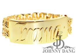 personalized gold bracelets custom gold bracelet johnny dang co