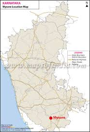 India Physical Map by Mysore Location Map Where Is Mysore