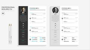 Resume Free Template Download Professional Resume Free Template Download Illustrator Speed Art