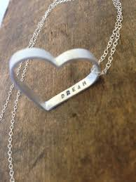 Customized Heart Necklace Customized Silver Heart Necklace Personalized Name Or Initial