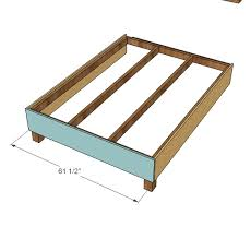 Free Queen Platform Bed Plans by Ana White Lyds U0027 No Sew Upholstered Bed Diy Projects