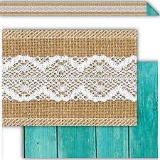 shabby chic burlap accents tcr77192 teacher created resources