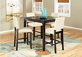 High Dining Room Sets by Sunset View Espresso 5 Pc Counter Height Dining Room Dining Room