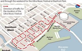 Miami Train Map by Traffic Alert Detours Tie Ups For Ultra Music Festival Miami