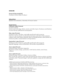 Resume  Simple Sample Resume For Writing Job With Experience And Education Background  Sample Gallery