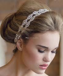 bridal headbands new arrival handmade rhinestone bridal headbands two row