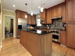 medium brown kitchen cabinets home design ideas