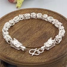 gift men bracelet images Fashion silver plated dragon design bracelet bangle chain men jpg