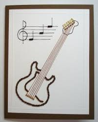 guitar birthday forum gallery stitching card of the week