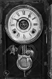 antique wall clock black and white of a traditional antique