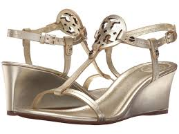 tory burch miller 60mm wedge sandal at luxury zappos com