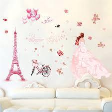dessin mural chambre fille sticker mural chambre fille sticker mural au motif enfant fille