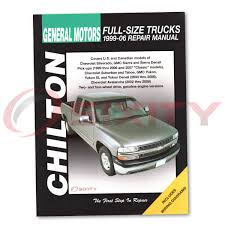 chevy silverado 1500 chilton repair manual ls classic z71 ss wt